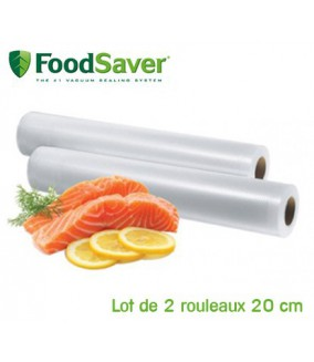 Lot de 2 rouleaux thermosoudables 20 cm FoodSaver