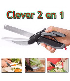 Clever Cut 2 en 1 Cutter alimentaire