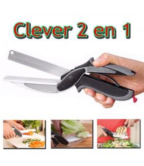 Clever Cut 2 en 1 Cutter alimentaire