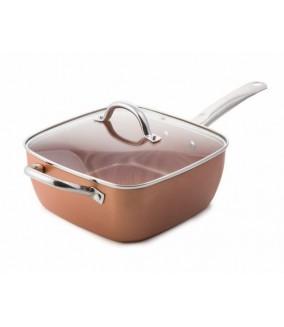 Poêle Copper Pan + Set de 3 Couteaux
