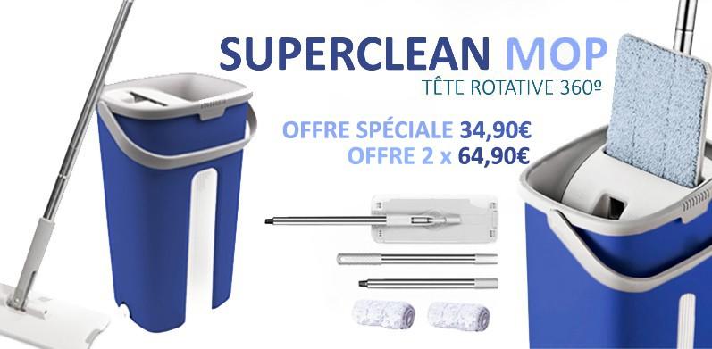 Superclean Mop Rotative 360º - TELEACHAT